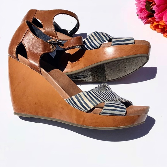 c447615d7808 Dr. Scholl s Shoes - Dr. Scholl s Milestone Wedge Sandal Navy White